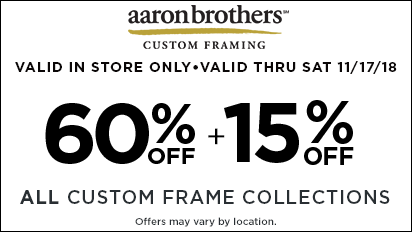 60% + 15% OFF All Custom Frame Collections