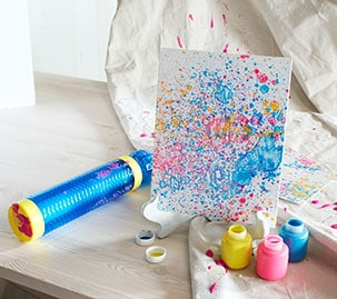 Splash Pumper Splatter Canvas