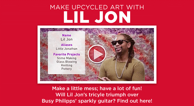 Video: Lil Jon & Busy Philipps Make Upcycled Art
