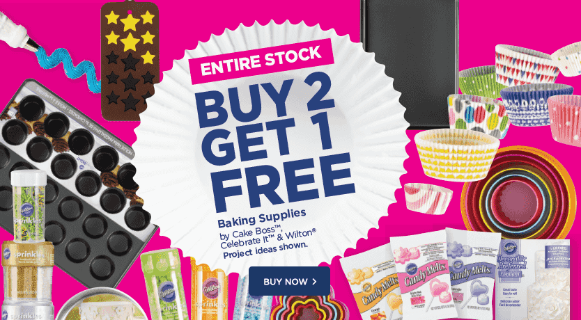 Buy 2 Get 1 Free Entire Stock Baking Supplies