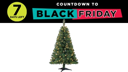 19.99 4 ft. Pre-Lit Riverside Pine Tree. Countdown to Black Friday - 7 Days Left