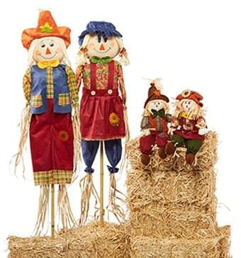 Straw Bales & Scarecrows