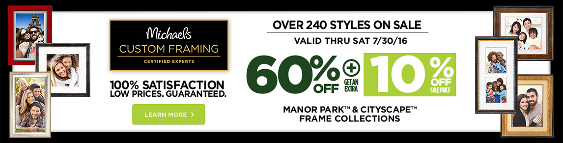60% + 10% Off Manor Park & Cityscape Frame Collections