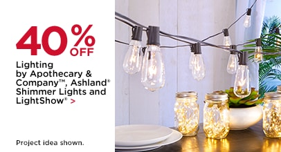 40% Lighting by Apothecary & Company, Ashland Shimmer Lights and LightShow