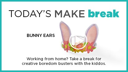 Today's MAKEbreak: Bunny Ears