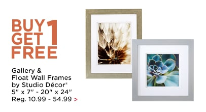 Buy 1, Get 1 FREE Gallery & Float Wall Frames by Studio Décor