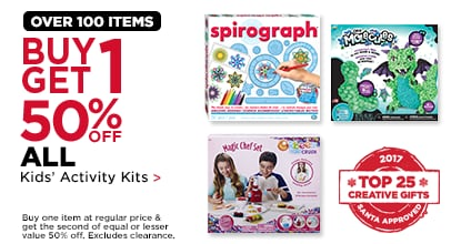 Buy One, Get One 50% Off ALL Kids' Activity Kits