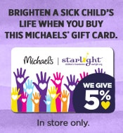 Brighten a Sick Child's Life When You Buy This Michaels Gift Card