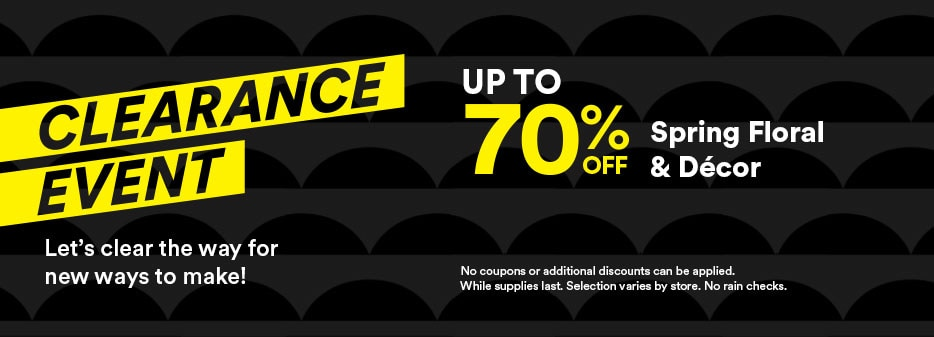 Clearance event up to 70% off