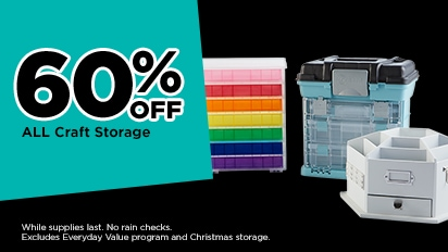 60% OFF ALL Craft Storage
