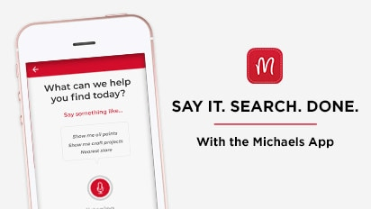 Use Voice Search to Find Items in Store and Online! Download it today!