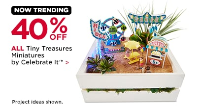 40% Off Tiny Treasures Miniatures by Celebrate It