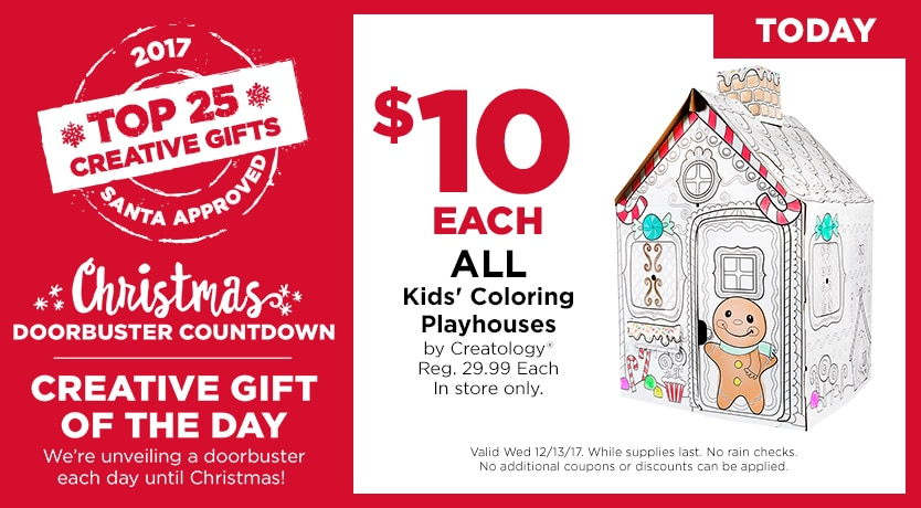 Countdown to Christmas $10 ALL Kids' Coloring Playhouses by Creatology