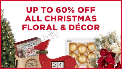 Up to 60% OFF ALL Christmas Floral & Decor