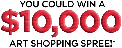 You could win a $10,000 Art Shopping Spree