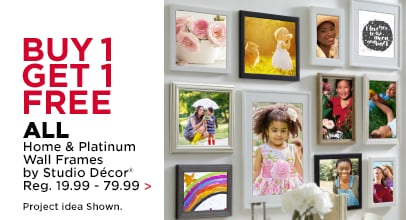 Buy 1 Get 1 Free ALL Home & Platinum Wall Frames by Studio Décor Reg. 19.99-79.99