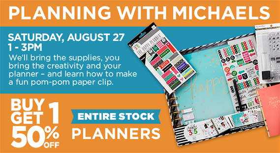 Planner Event & BOGO 50% Entire Stock Planners