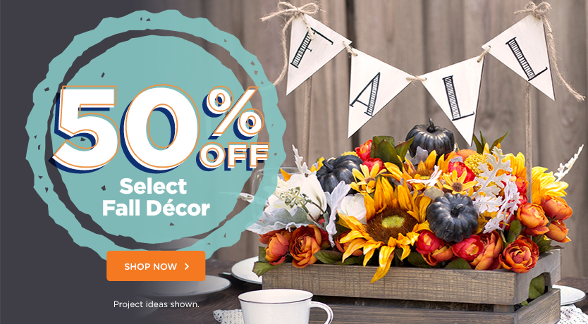 50% Off Select Fall Decor