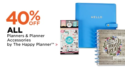 40% OFF Planners & Planner Accessories by The Happy Planner