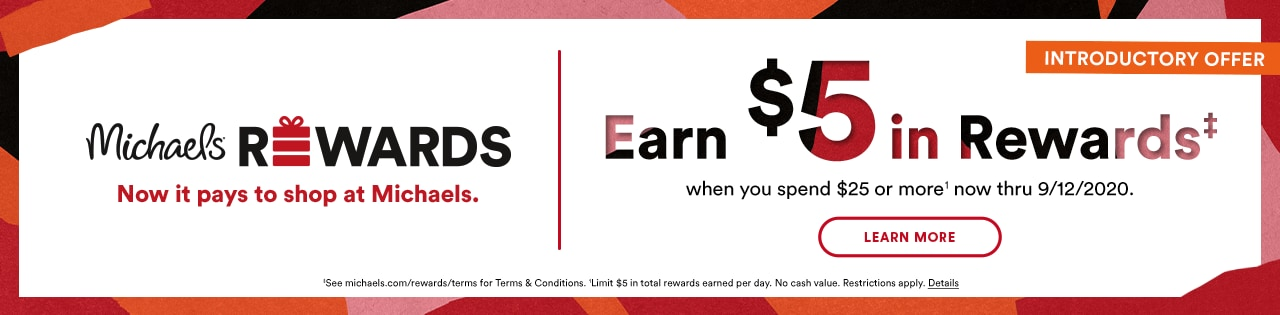 Michaels Rewards Introductory Offer Earn $5 in Rewards