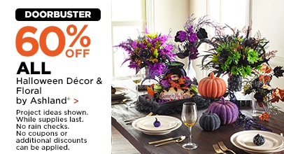 60% OFF ALL Halloween Decor & Floral by Ashland