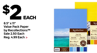 $2 Each 8.5x11 Value Pack Paper by Recollections