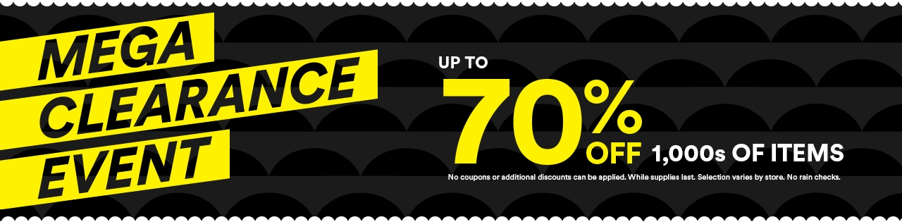 MEGA Clearance Event Up to 70% OFF 1,000 of Items