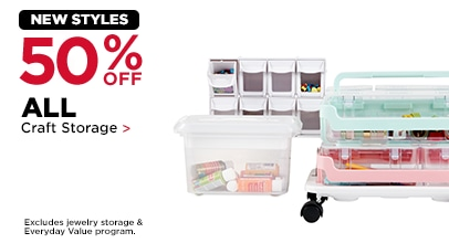 50% OFF Craft Storage