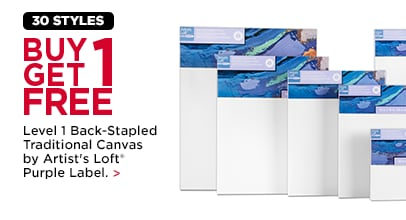 BUY ONE, GET ONE FREE* Level 1 Back-Stapled Traditional Canvas by Artist's Loft