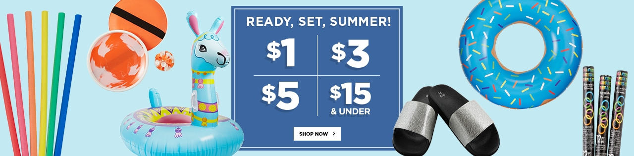 Ready, Set, Summer! $15 & Under