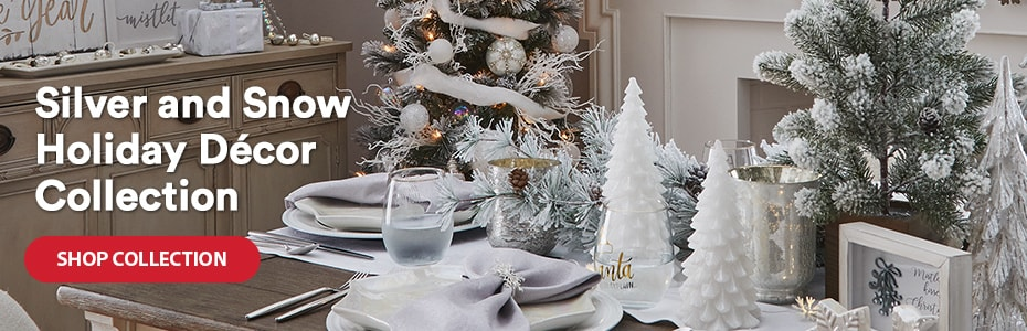 Silver and Snow Holiday Décor Collection. Shop collection