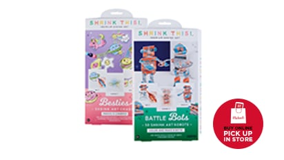 $4 EACH Shrink This!™ Art Kits. Reg. $7 Each. Buy Online Pick Up In-Store
