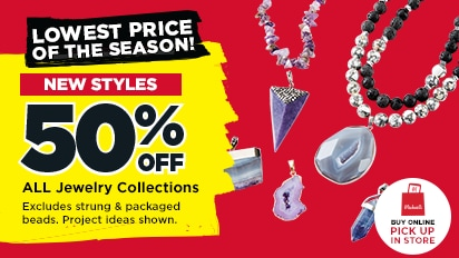 50% OFF ALL Jewelry Collections