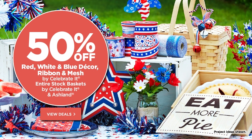 50% Off Red, White & Blue Décor Mesh & Ribbon by Celebrate It
