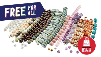 Buy 1, Get 2 FREE ALL Strung Beads. Buy Online Pick Up In-Store