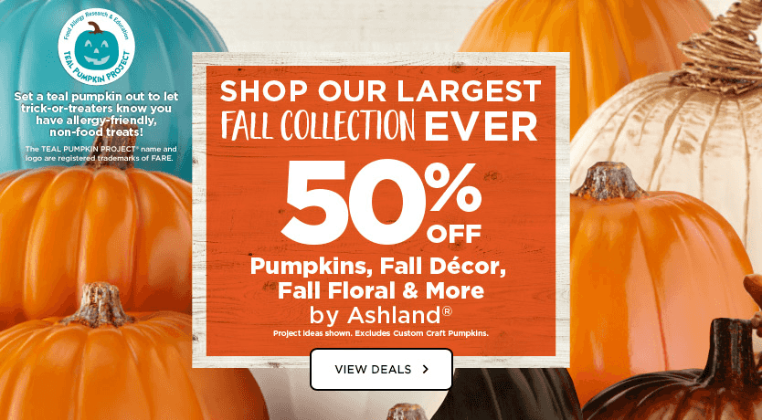 Make It Feel Like Fall 50% OFF Pumpkin, Fall Floral, Fall Décor and More