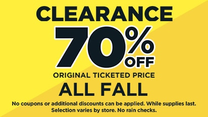 Clearance – 70% OFF ALL Fall