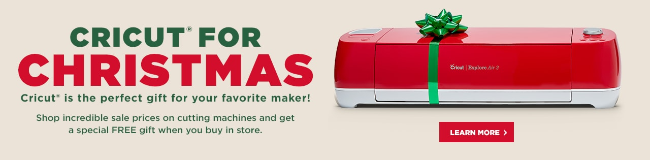 Cricut For Christmas! Cricut® is the perfect gift for your favorite maker!