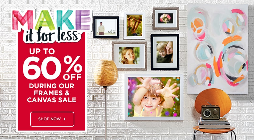 60% Off During Our Frames And Canvas Sale