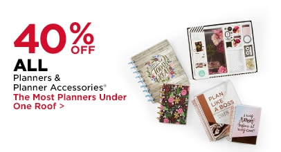 50% OFF ALL 2017 - 2018 Planners by Recollections & The Happy Planner