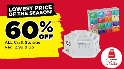 Lowest Prices of the Season! 60% OFF ALL Craft Storage