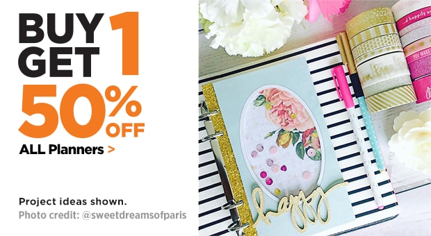 40% Off Entire Stock Of Planners