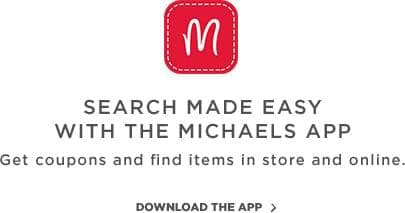 search made easy with the Michaels app.
