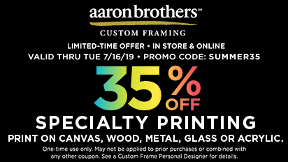 In Store & Online 35% Off Specialty Printing - Print on Canvas, Wood, Metal, Glass or Acrylic.
