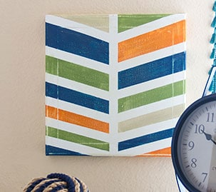 Chalky Paint Chevron Canvas Reveal