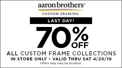 70% OFF ALL Custom Frame Collections - LAST DAY!