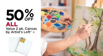 50% Off All Value 2 pk. Canvas by Artist's Loft
