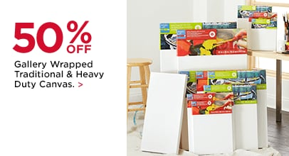 50% OFF Gallery Wrapped Traditional & Heavy Duty Canvas