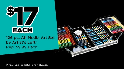 $17 EACH 126 pc. All Media Art Set. Reg. 59.99 Each