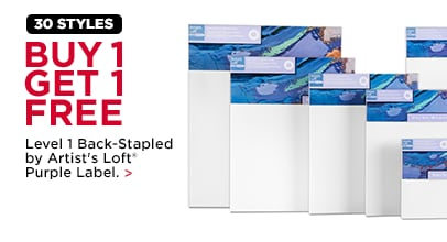 Buy 1 Get 1 Free Level 1 Back-Stapled by Artist's Loft® Purple Label.